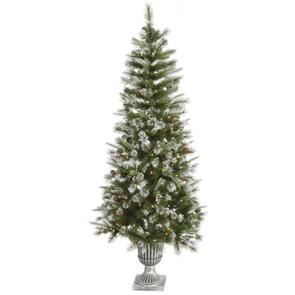 6.5 ft. Potted Artificial Christmas Tree Image