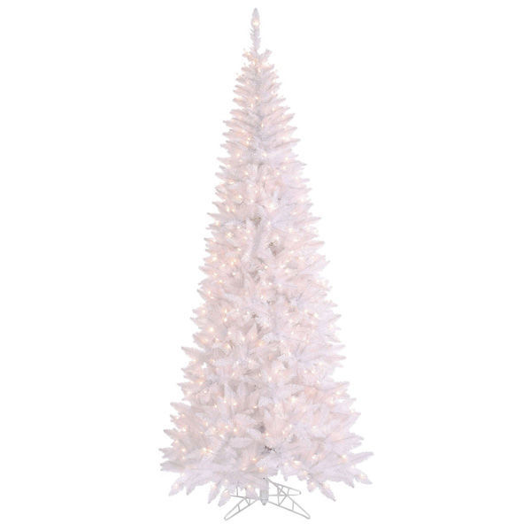 6.5 ft. x 34 in. White Christmas Tree Image