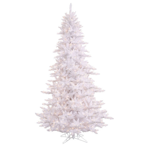 10 ft. x 68 in. White Christmas Tree Image