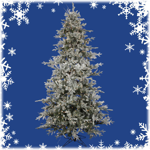 7.5 ft. x 54 in. Frosted Christmas Tree Image