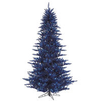 7.5 ft. x 52 in. - Blue Fir - 1634 Classic Tips - 750 Blue Incandescent Mini Lights - Vickerman Artificial Christmas Tree