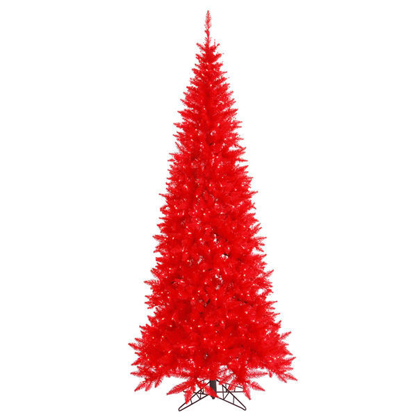 10 ft. x 50 in. Red Christmas Tree Image