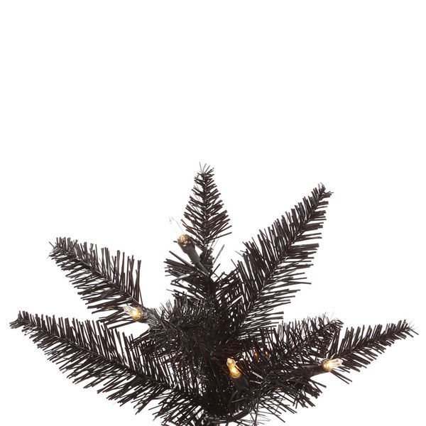 7.5 ft. x 40 in. Black Christmas Tree Image