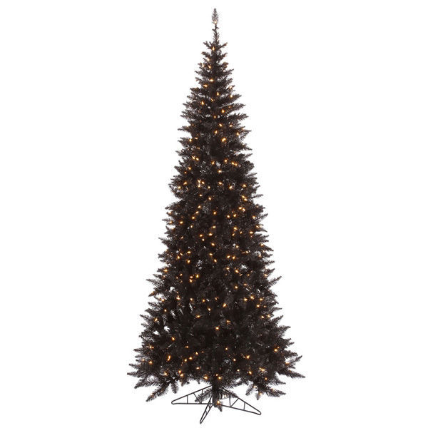 10 ft. x 50 in. Black Christmas Tree Image