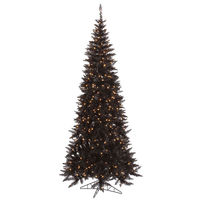 10 ft. x 50 in. - Slim Black Fir - 2260 Classic Tips - 900 Clear Incandescent Mini Lights - Vickerman Black Christmas Tree