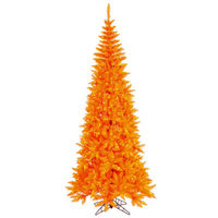 9 ft. x 46 in. - Slim Orange Fir - 1798 Classic Tips - 700 Orange Incandescent Mini Lights - Vickerman Artificial Christmas Tree