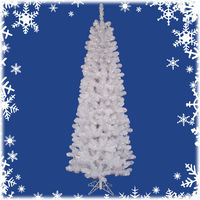 8.5 ft. x 39 in. - Salem Pencil Pine - 877 Classic Tips - 450 Clear Mini Lights - Artificial Christmas Tree  - Vickerman A103281