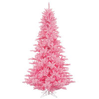 12 ft. x 82 in. - Pink Fir - 4631 Classic Tips - 1650 Pink Incandescent Mini Lights - Vickerman Pink Christmas Tree