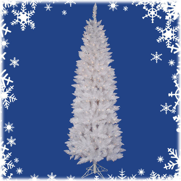 6 ft. x 30 in. White Christmas Tree Image