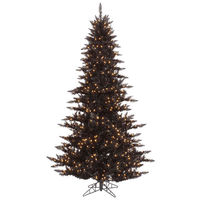 7.5 ft. x 52 in. - Black Fir - 1634 Classic Tips - 750 Orange Incandescent Mini Lights - Vickerman Artificial Christmas Tree