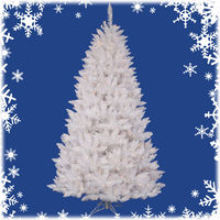 7.5 ft. Artificial Christmas Tree - Classic PVC Needles - Sparkle White Spruce - Pre-Lit with Multi-Color LED Bulbs -Vickerman A104177LED