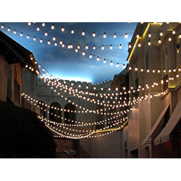 48 ft. - 24 Sockets - 24 in. Spacing - Patio Light Stringer Image