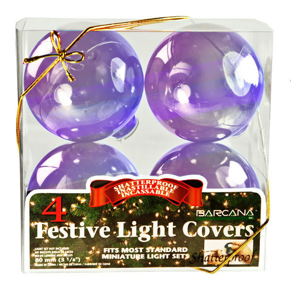 barcana 547771 mini light globe covers lavendar