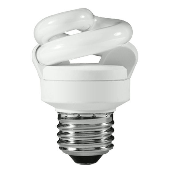 Spiral CFL - 5 Watt - 25W Equal - 4100K Cool White Image