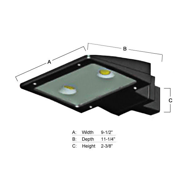 26 Watt - 70W Equal - LED Area Flood Light Fixture Image