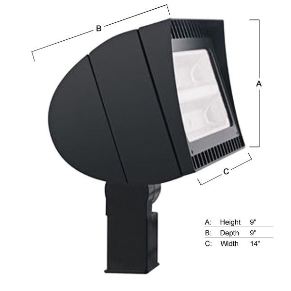 RAB FXLED78SF - 78 Watt - LED - Flood Light Fixture - Slipfitter Mount Image