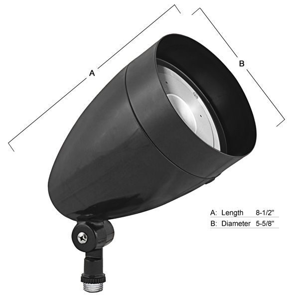 RAB HBLED13A - 13 Watt - LED - Bullet Flood Light Fixture Image