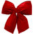 16 in. Red Velvet Structured Bow Thumbnail