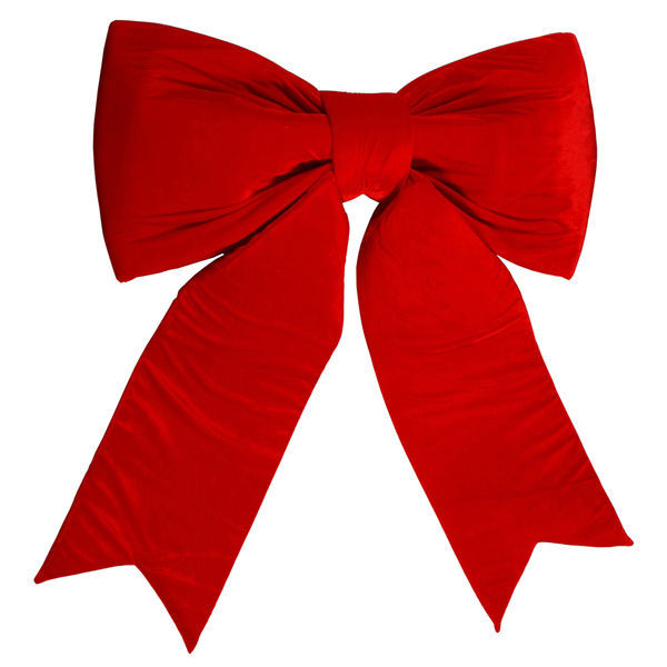 Vickerman L697436 Red Velvet Bow 36 In