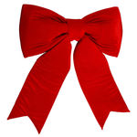 36 in. Red Velvet Bow Image