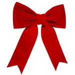 60 in. Red Velvet Bow Image