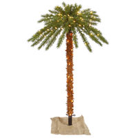4 ft. - Artificial Christmas Palm Tree - 46 Classic PVC Tips - 140 Clear Mini Lights   - Vickerman K129141