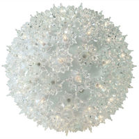 Clear Twinkling Starlight Sphere - Utilizes 50 Mini Lights - 6 in. dia. - Green Wire - Indoor/Outdoor - 120 Volt