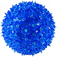 LED - Blue Starlight Sphere - Utilizes 50 LED Mini Lights - 6 in. dia. - Green Wire - Indoor/Outdoor - 120 Volt
