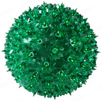 Green Starlight Sphere - Utilizes 50 Mini Lights - 6 in. dia. - Green Wire - Indoor/Outdoor - 120 Volt
