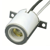 SYLVANIA 69784 - S48 - Steatite Socket - 48 in. Leads - 18 AWG - 300 Deg. C - Use with Halogen Lamps - Single Ended