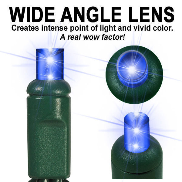 (24) Bulbs - LED - Blue Wide Angle Mini Lights Image