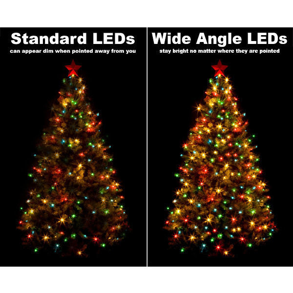 (24) Bulbs - LED - Amber-Orange Wide Angle Mini Lights Image