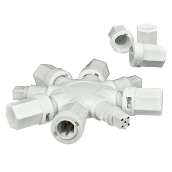 8-Way Splitter - White Image
