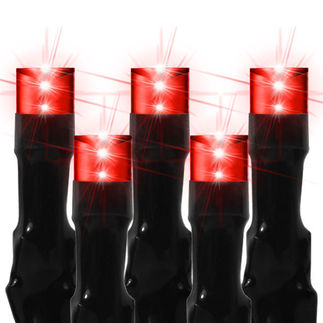 (240) Bulbs - Commercial LED System - Red Wide Angle Crab Lights - Length 14 ft. - Black Wire - 24V - 3-Channel