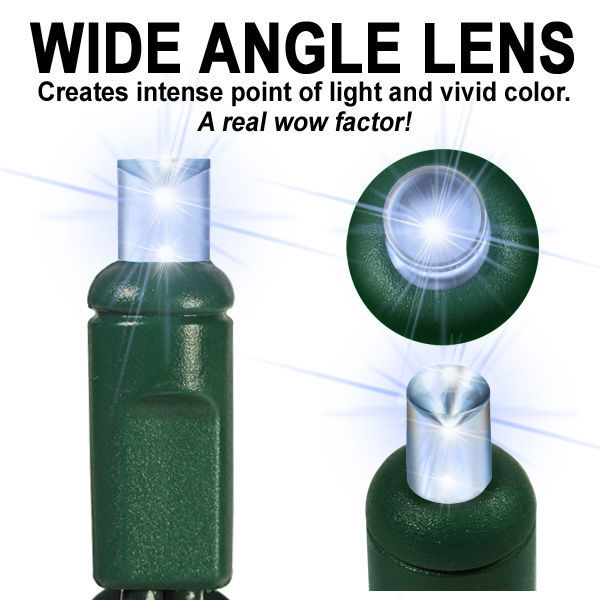 (48) Bulbs - LED - Cool White Wide Angle Mini Lights Image