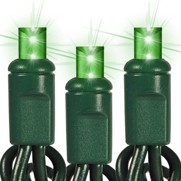 (48) Bulbs - LED - Green Wide Angle Mini Lights Image