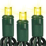 24 ft. Stringer - (48) Bulbs - LED - Yellow Wide Angle Mini Lights Image