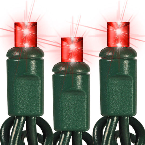24 ft. Stringer - (48) Bulbs - LED - Red Wide Angle Mini Lights Image
