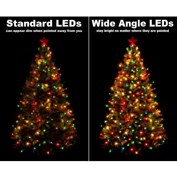 24 ft. Stringer - (48) Bulbs - LED - Purple Wide Angle Mini Lights Image