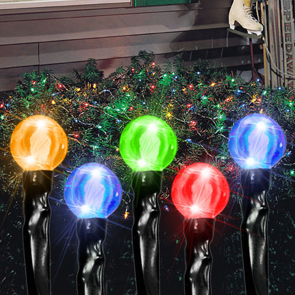 4 ft. x 6 ft. - (96) Bulbs - LED - Multi-Color Cherry Drop Net Lights Image