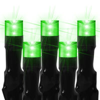 16 ft. Stringer - (80) Bulbs - LED - Lime Green Wide Angle Lightning Lights - 2 in. Spacing - Black Wire - 24 Volt