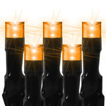 16 ft. Stringer - (80) Bulbs - LED - Orange Wide Angle Lightning Lights Image