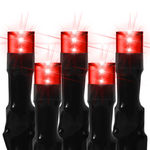 9 ft. Stringer - (128) Bulbs - LED - Red Wide Angle Meteor Shower Lights Image