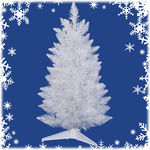30 in. x 17 in. White Christmas Tree Image