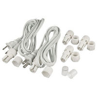 3/8 in. - Incandescent - Rope Light Accessory Kit - Includes (2) 6 ft. Power Cords (3) Connectors, (2) End Caps - 2 Wire - FlexTec M134