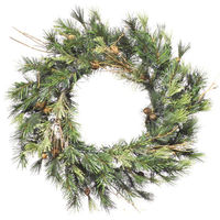 20 in. Christmas Wreath - Classic PVC Needles - Mixed Country Pine - Unlit  - Vickerman A801820