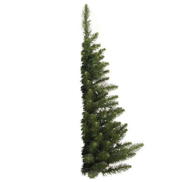 3 ft. x 24 in. - Artificial Half Wall Christmas Tree Image