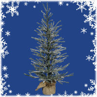 18 in. x 12 in. - Frosted Angel Pine - 142 Classic PVC Tips - Unlit - Potted Artificial Christmas Tree