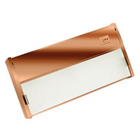 9 in. - LED - Under Cabinet Light Fixture - 4 Watt - Copper - Power Cord and LED Driver Included - NSL LTL-1-PC/CP