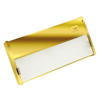 9 in. - LED - Under Cabinet Light Fixture - 4 Watt - Polished Brass - Power Cord and LED Driver Included - NSL LTL-1-PC/PB